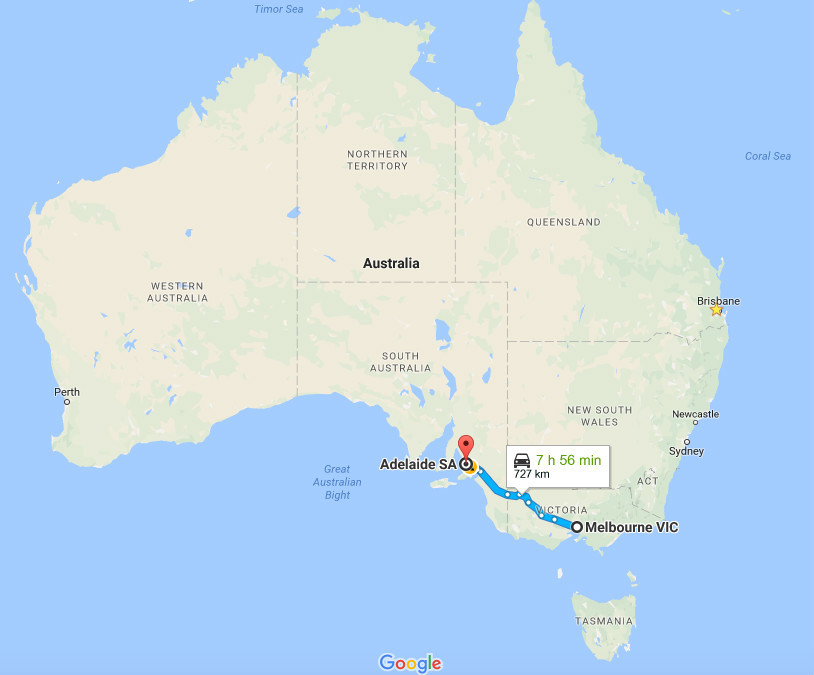 Big Things Road Trip from Melbourne to Adelaide and More Adelaide – Melbourne Tourist Attractions Map
