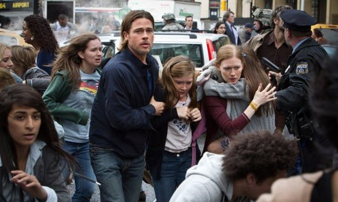 Brad Pitt vs the Zombie horde