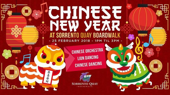 Chinese New Year Sorrento Quay Boardwalk