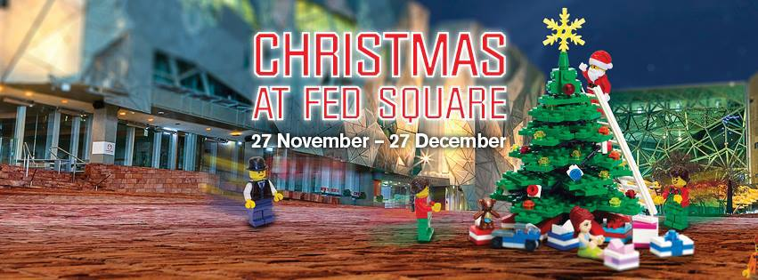Giant LEGO Christmas Tree at Federation Square 2015 - Melbourne