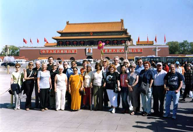 Group photo in Tiananmen Square