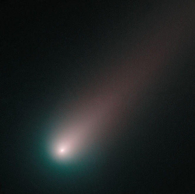 Some comets just look like fuzzy blobs as in this photo courtesy of NASA & ESA