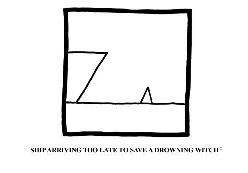 Droodle, roger price, Frank Zappa, ship too late to save a drowning witch
