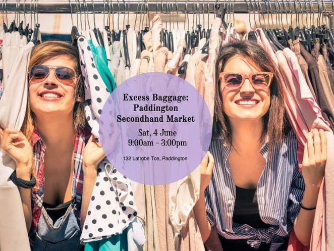 Excess Baggage, June, 2016, Paddington's Secondhand Market, op shopping, market, Brisbane, free, clothing, sausage sizzle