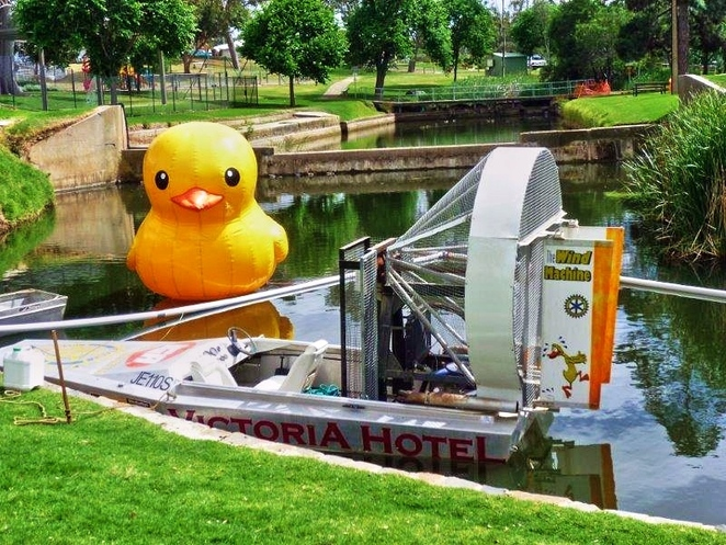great south australian duck race, great duck race, strathalbyn, strathalbyn soldiers memorial gardens, adelaide hills, rubber ducks, strathalbyn railway station, fun things to do, steamranger, wind machine