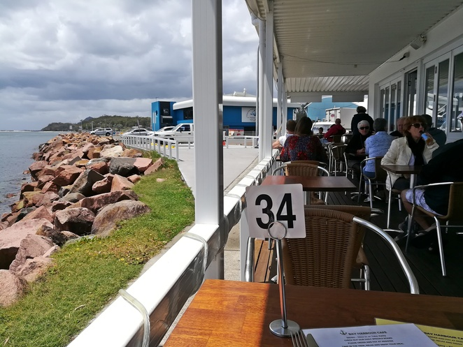 harbour bay cafe, nelson bay, port stephens, NSW, fish and chips, seafood, prawns, seafood basket, oysters, local seafood, best fish and chips in nelson bay,