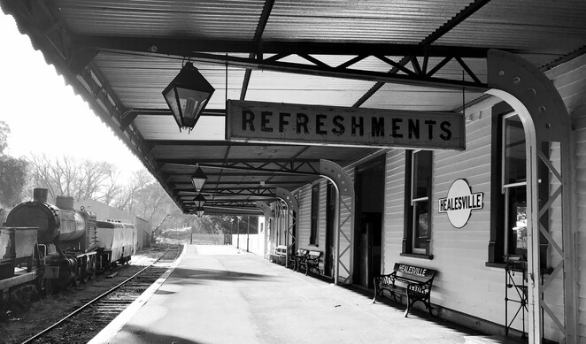 healesville, yarra valley, railway, historical, heritage, family, day trip, trains