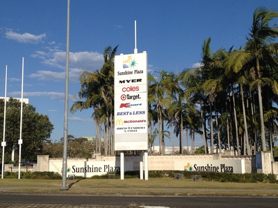 It's hard to miss the Sunshine Plaza in the heart of Maroochydore