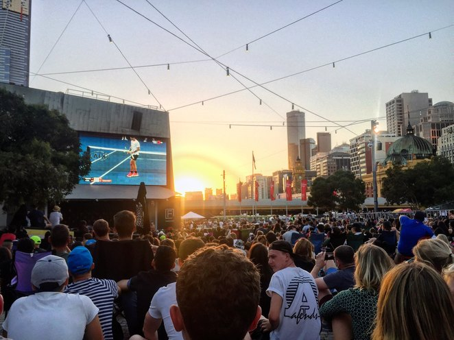 kia tennis live site, melbourne, federation square, things to do, australian open, free, 2019, where to watch the tennis, nightlife, melbourne city, australian open tickets, Victoria, melbourne,