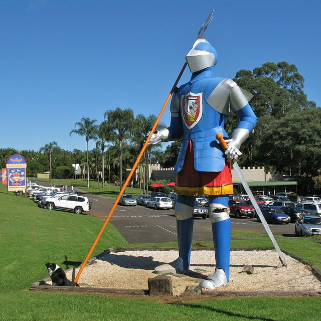 macadamia big knight thing castle south east queensland medieval