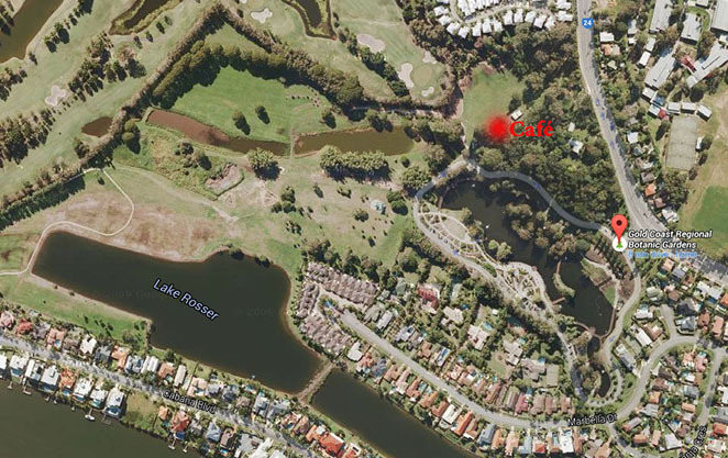 Map location, rosser park, gold coast. benowa