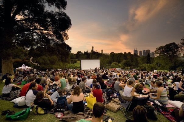 moonlight cinema theatre outdoors outside movies melbourne summer