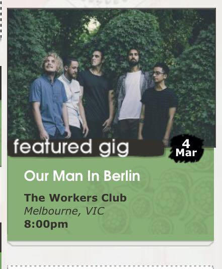 our man in berlin, perth band, haydn mansell, single launch, 5 piece band from perth, cirrhosis, moliere, the workers club melbourne