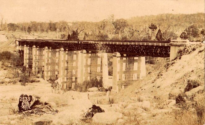 Photo of Red Bridge back in the early 1900s courtesy of Wikimedia