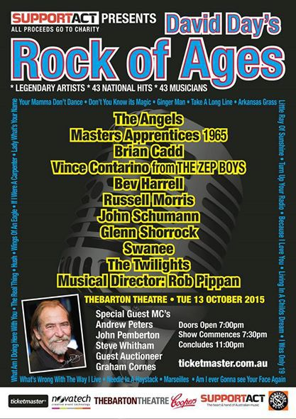 Rock of Ages tribute concert to David 'Daisy' Day at Thebarton Town Hall