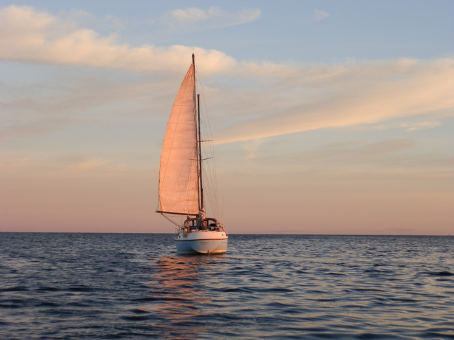 sailing, sunset, calm seas, Spencer Gulf, South Australia, fishing, sails, recreation