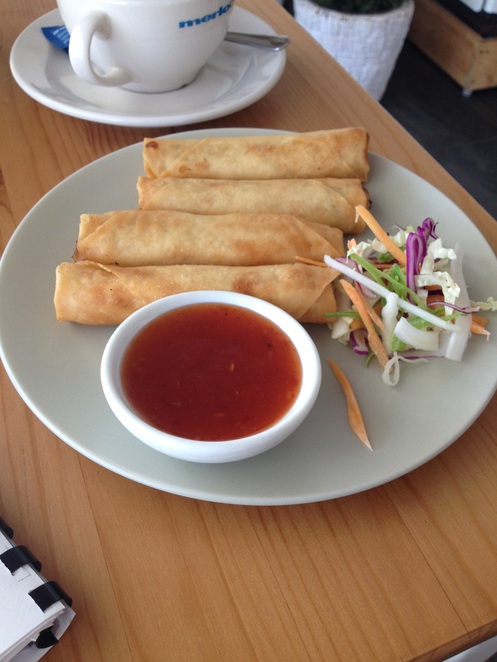 spring rolls, Thirty-Seven Cafe, cafe Ipswich, places to eat in Ipswich