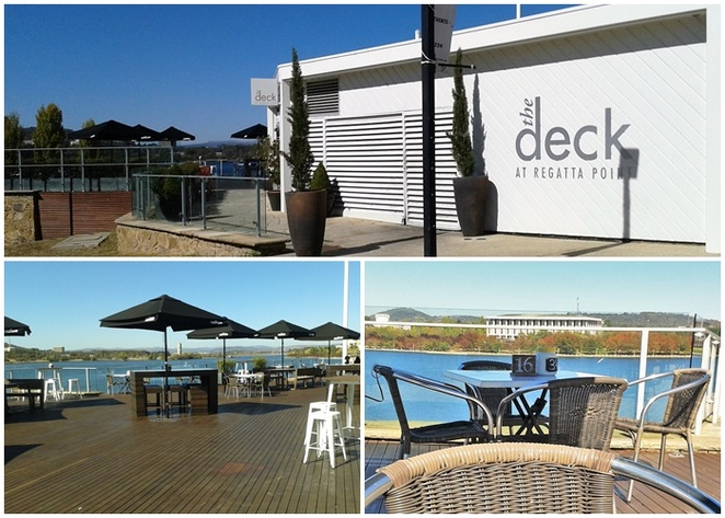 the deck, canberra, ACT, outdoor dining, el fresco, cafes, canberra, views, lake burley griffin, ACT,