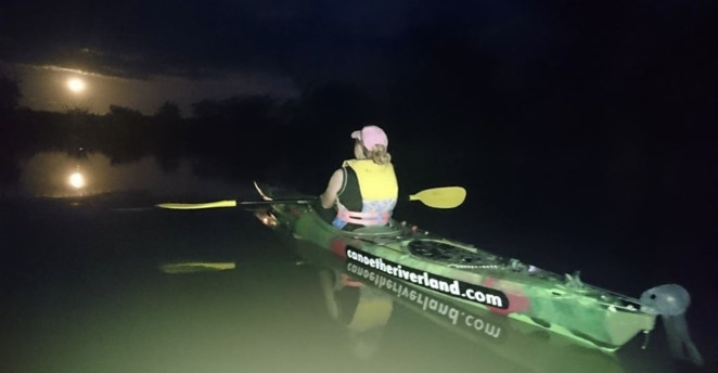Tick kayaking on a Moonlight Tour off the bucket list