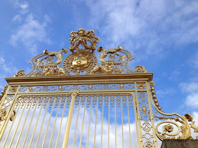 The restored gates of Versailles Palace (c) JP Mundy 2012