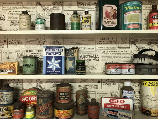 yesteryear's laundry shelf