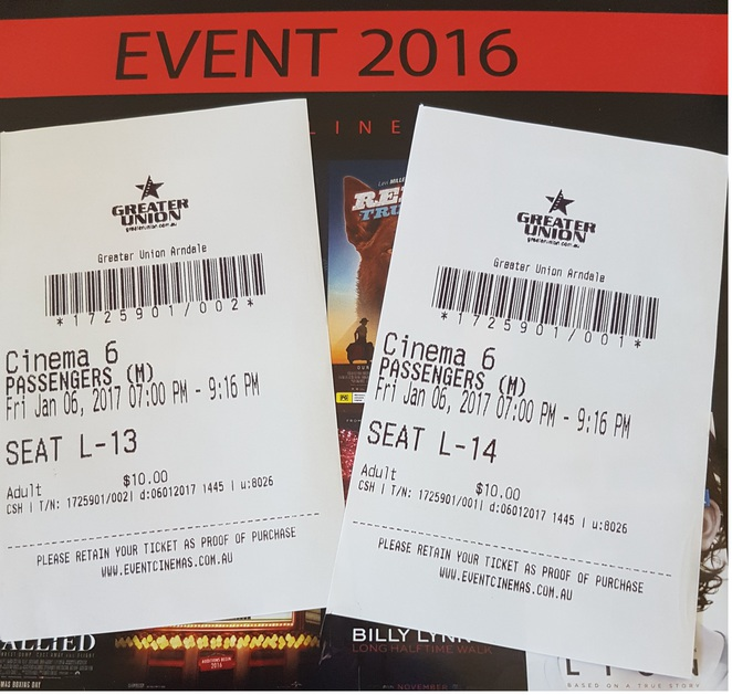 $10 movie tickets, Greater Union Arndale, Event Cinema