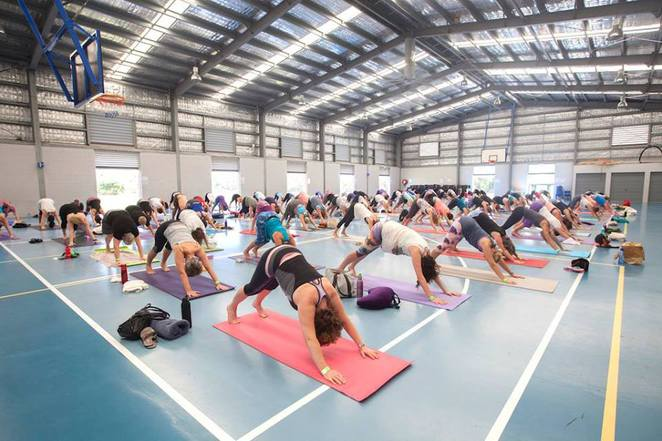 6th Sunshine Coast Yoga Day, full day of yoga, Currimundi Primary School, eight workshops, healthy food and drinks, live music during lunch break, rejuvenate, get your mind, body and soul back into sync, blissful start to new year