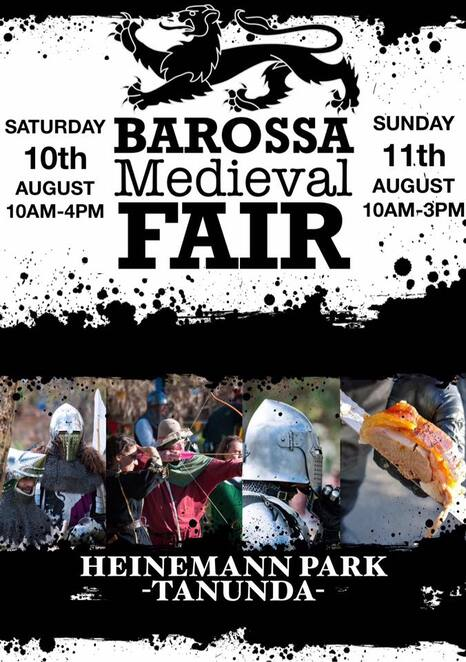 Barossa Medieval Fair, costume, role play, markets, food vendors, food and drinks, Barossa Valley, family events, fun day out, Knights, Kings and Queens, witches, wizards, games, tournaments, jousting, suit of armour