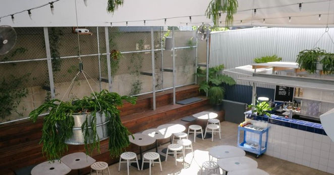 Photo of the courtyard at Ben's Burgers in West End courtesy of Ben's Burgers