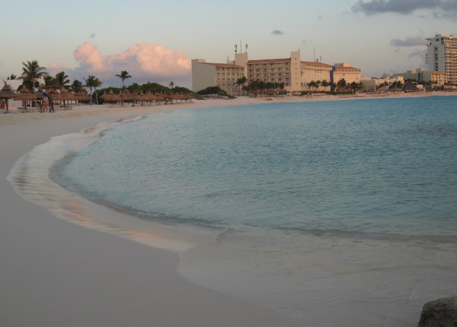 Cancun, Cancun beaches, Club Med beach, sunrise, cancun sunrise, swimming, tourism, vacation,