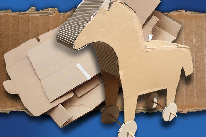 Cardboard cubby town Come Out Festival Adelaide