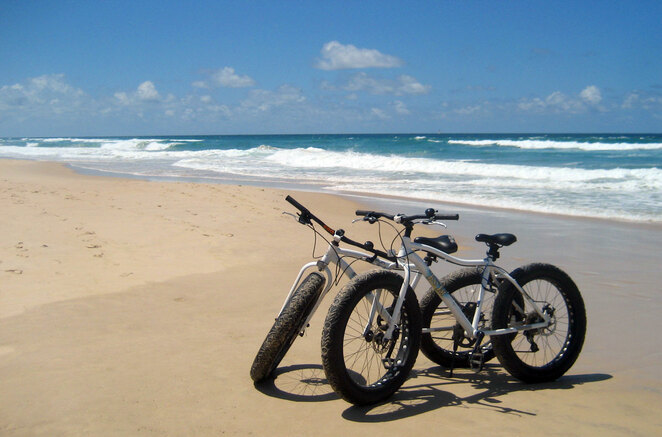 Big beach wheels are essential for cycling on the beach