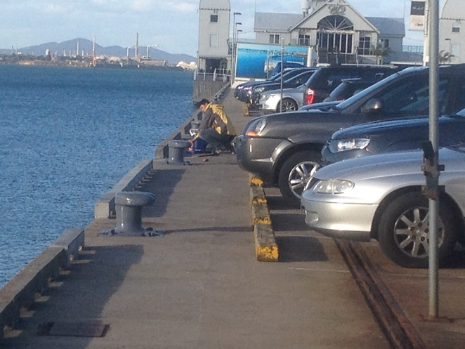 Fishermen at Cunningham Pier, Geelong