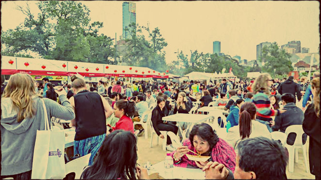 good food guide, the age, citi, night noodle market, birrarung marr, asian hawker food, asian street food