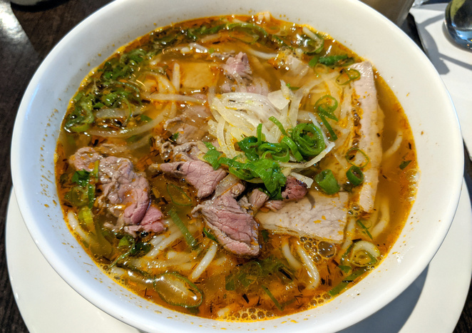 Hue style spicy beef soup