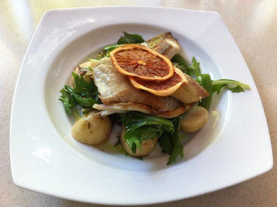 Pan seared bream fillet was beautifully cooked