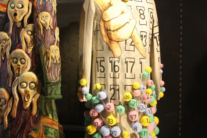 The iconic Scream dress and the little Tattslotto number - 60 Years of Edna, Possums! – photo by Jenny Esots