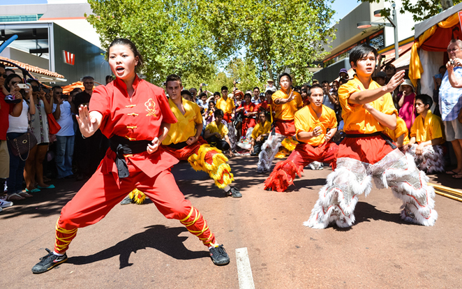 Kung Fu acts; one of many performances