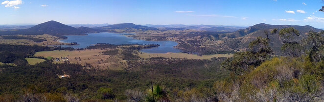 Lake Moogerah see from Mt Greville