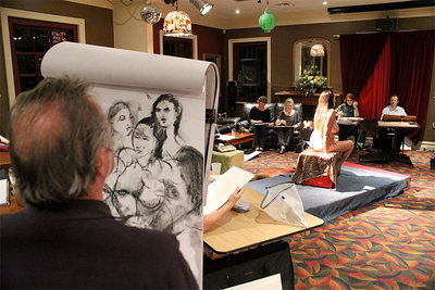 Life Drawing at the Friend in Hand