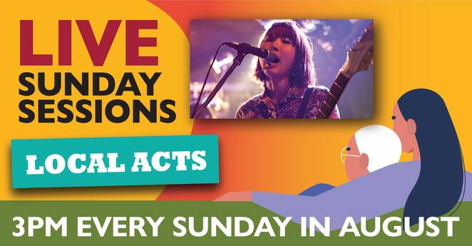 live sunday sessions august 2020 program, community events, fun things to do, free music events, glen eira city council, glen eira city council arts and culture, entertainment, music, gigs shows, performing arts, singers, vocalists, bands, cultural eent, glen eira residents, free online live entertainment, comedy musicians, family fun, celebrating 1960s fashion in melbourne, aspiring loca, musician chloe james, tales of bricks and mortar, visit the underwater world with dream puppets