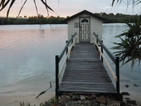 Maroochy River, dusk, jetty