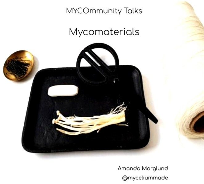 Mycomaterials, Mycotailoring, mycoleather, amanda morglund, fashion designer, Mycocycling, community events, fun things to do, cultivation on household waste online, mycommunity applied mycology, cultivating mushrooms, mycelium made, creating fabrics from fungi, wild fungi dna