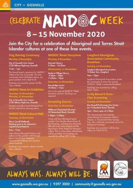 naidoc week 2020, national naidoc, always was always will be, aboriginal event, cultural event, community event, fun things to do, indigenous event, first people nation, always was always will be art competition, healing, healing exhibition by cassie leatham, always was always will be naidoc 2020 exhibition, stories of country, djuki mala, poetry and prose in conversation, 2020 naidoc week events, aboriginal and torres strait islander science and innovation, from an untouched landscape james tylor exhibition, graphic intervention lake burley griffin foreshore, indigenous desert alliance conference 2020, naidoc week flag raising ceremony and morning tea, bush foods for the backyard, cultural safety training, celebrate naidoc week at rocky bay, innovate rap launch, meet astronomer karlie noon, djuki mala at red earth arts precinct, storytime with aunty fay muir, naidoc special with jarron andy, james tylor artist talk at ccas and springbank island