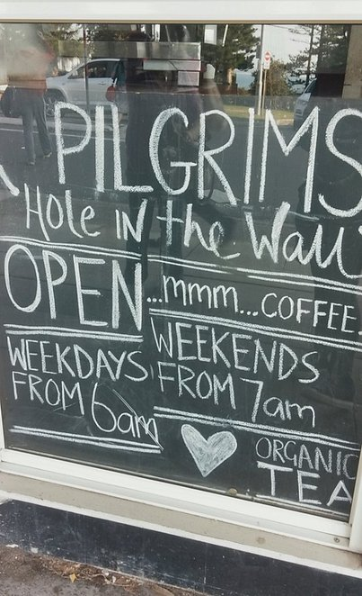 Pilgrims, Hole in the wall