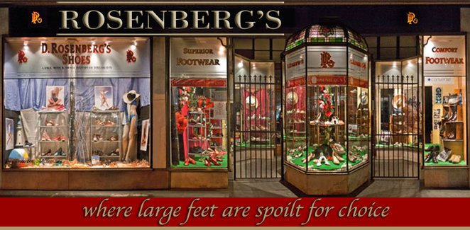 Rosenbergs shoes for large feet Melbourne