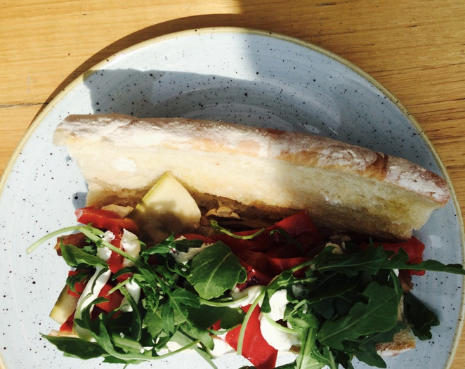Rudimentary ; Footscray ; Cafe ; Sustainability; Roasted Vegetable Baguette