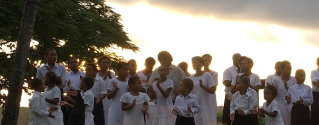 Shangri-La, Shangrila, Fiji, Viti Levu, Resort, Spa, pool, beach, water, lagoon terrace restaurant, swimming, palm trees, sunny, weather, warm, sunday school choir, children, singing, village, church choir,