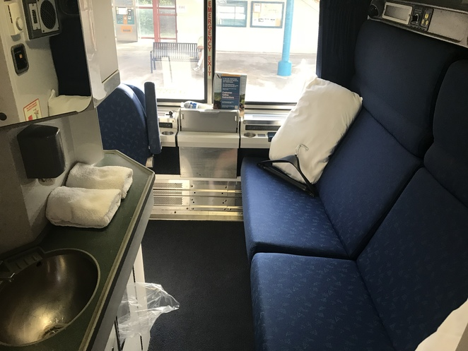 Silver Meteor bedroom, train travel in US, see US by train