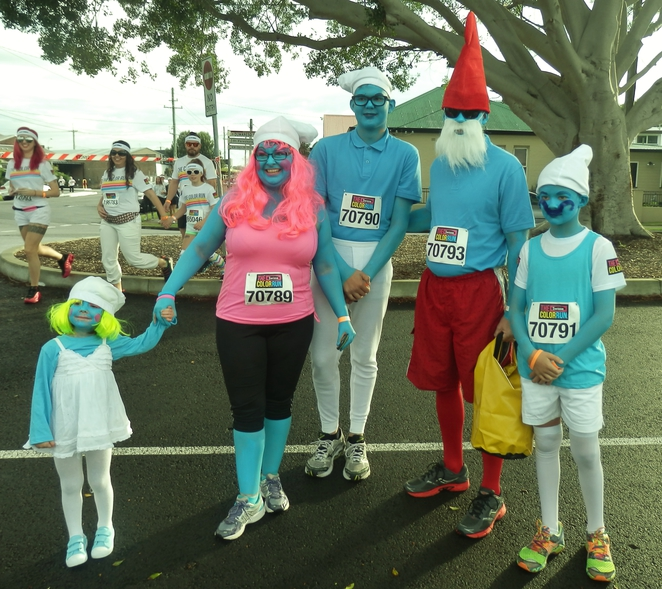 smurf, family, color, run, australia, newcastle,